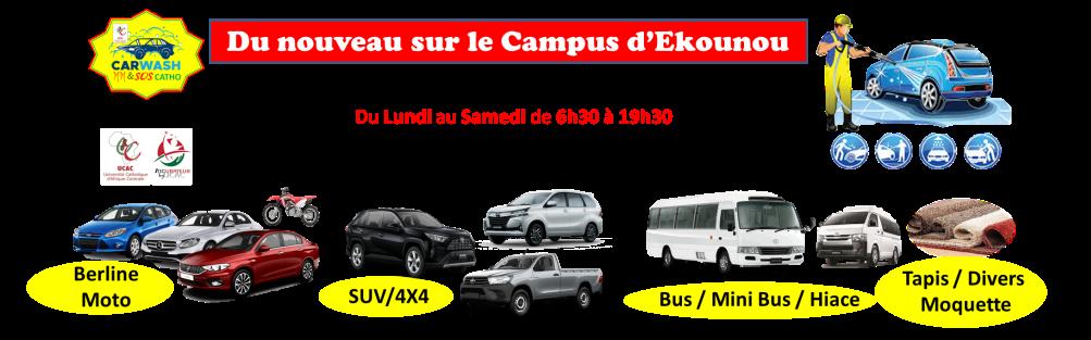Du nouveau au campus d'Ekounou: CARWASH