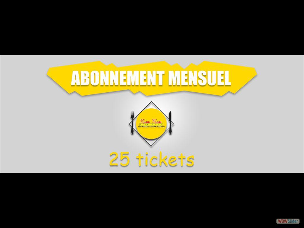 25 tickets