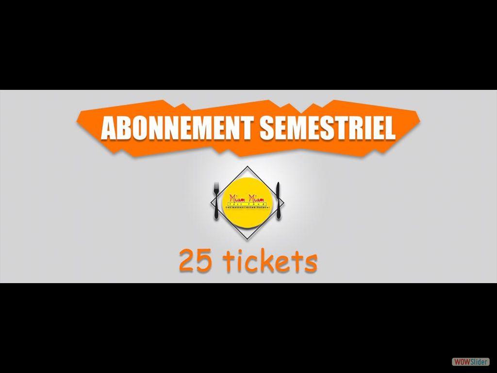 25 tickets X 5